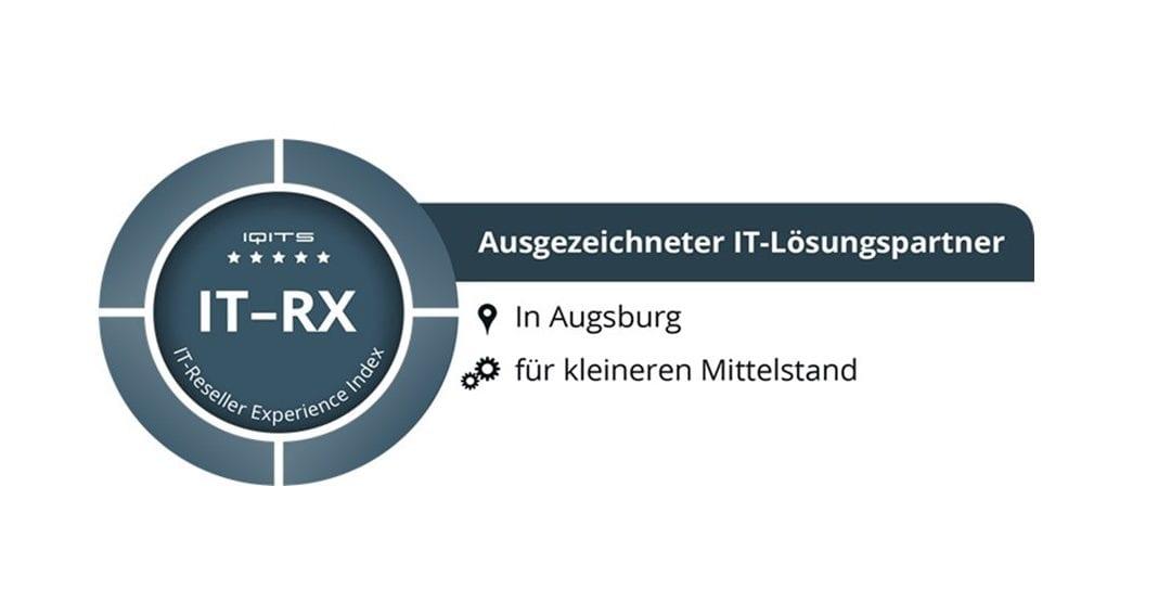 PARIT als ausgezeichneter IT-Lösungspartner in der Region Augsburg bewertet!